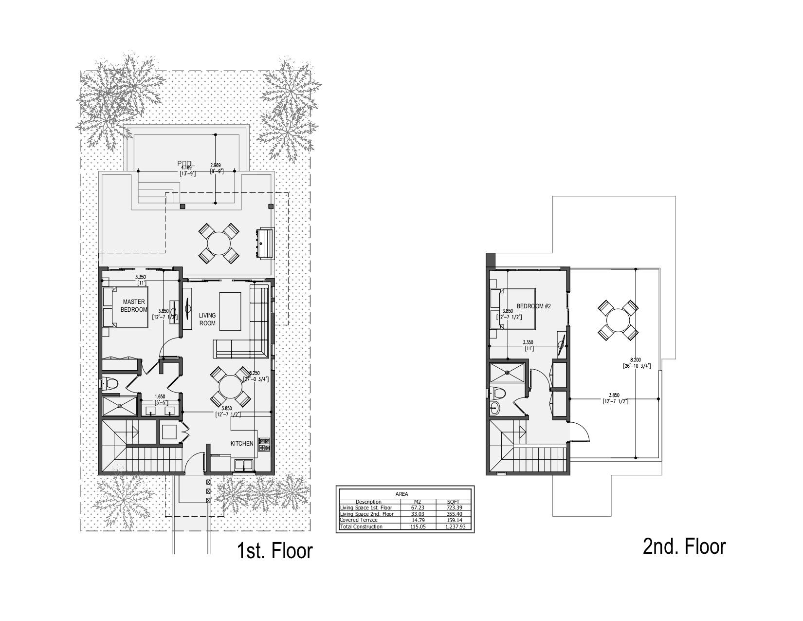 Cielo - 2 Story Beach Residences - Floor Plans